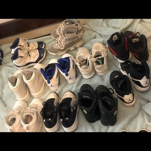 10 pairs of sz 13 kids shoes